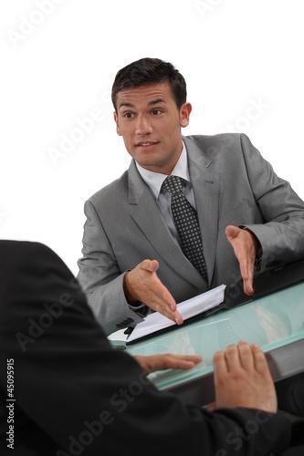 Businessmen negotiating