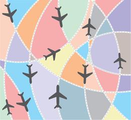 Airplane destination routes