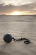 """""""USA, Utah, Little Sahara, ball in chain on desert"""""""