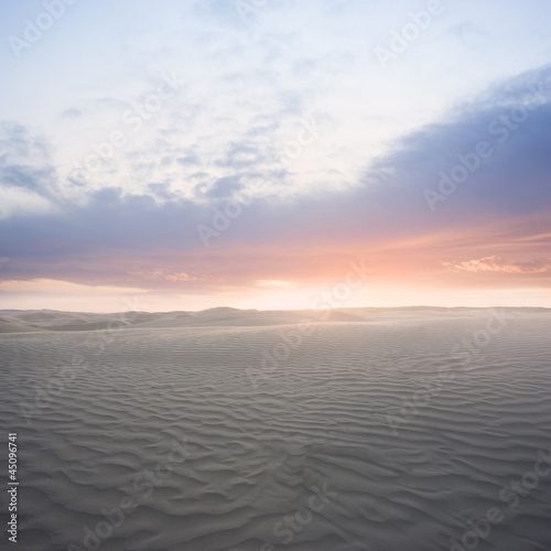 """USA, Utah, Little Sahara, sunrise on desert"""