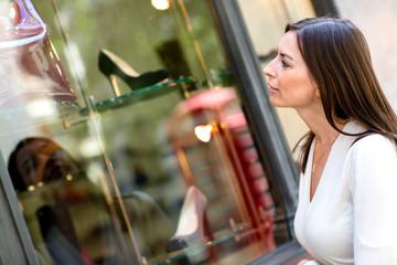 Woman wondow shopping