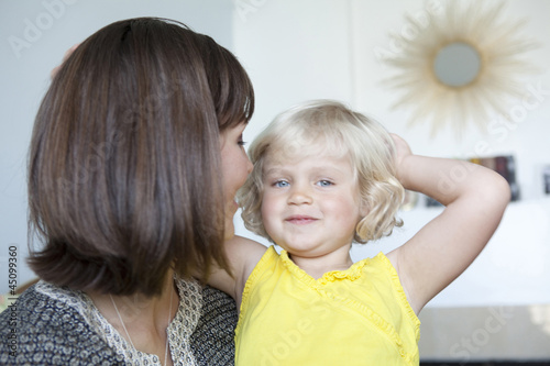 """USA, California, San Francisco, mother with girl (2-3)"""