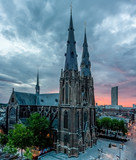 Rare view of the Saint Catherina Church in Eindhoven