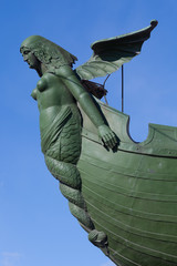 The figure on the rostral column in St. Petersburg
