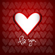 Valentine's day background with hearts - for you sign