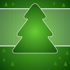 Christmas vector background with tree of lace.