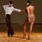 Fototapety latino dance couple in action