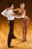 latino dance couple in action