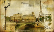 memories about Paris - vintage background