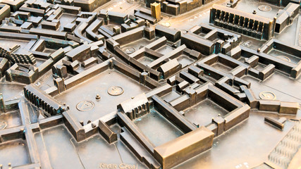 Miniature metal city