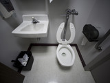 USA, Utah, Payson, Hospital toilet