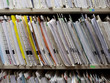 USA, Utah, Payson, Medical records on shelf