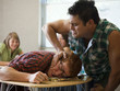 """USA, Utah, Young man bullying teenage boy (16-17) in classroom"""