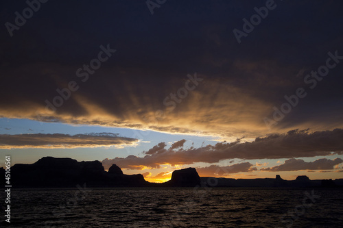 """USA, Utah, Lake Powell at sunset"""