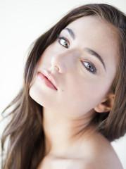 """Portrait of young beauty woman, studio shot"""