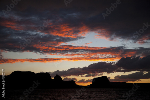 """USA, Utah, Lake Powell, Scenic sunset"""