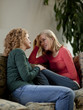 """USA, Utah, Cedar Hills, Mother consoling teenage girl (14-15)"""