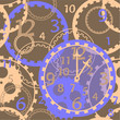 pattern clock gears brown