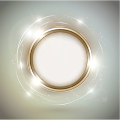Abstract shiny golden frame with copyspace