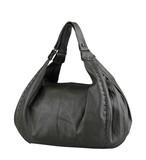 Genuine woman leather handbag in grey color poster