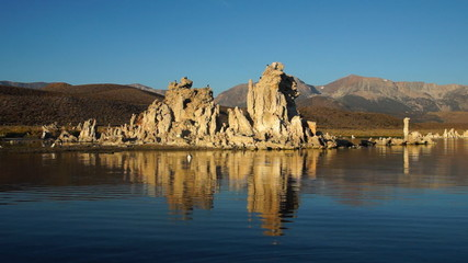 Sun rise on Mono lake, California