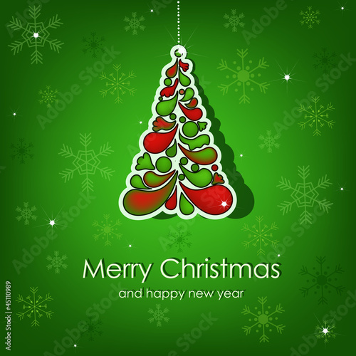 Beautiful vector Christmas card