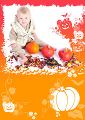 The November calendar card for 2013 with baby photo