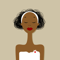 Pretty woman portrait, spa salon