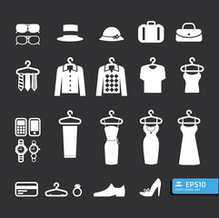 Elements of Clothing Store Icon vector