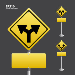 TRAFFIC sign yellow vector