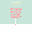 Hearts cake -  greeting card