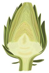 Halved artichoke