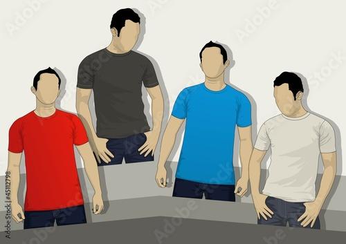 man t-shirt model