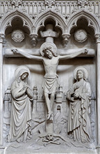 Brussels - Relief of Crucifixion from Saint Michael s cathedral