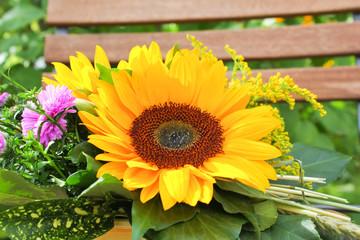 Sonnenblume dekoriert