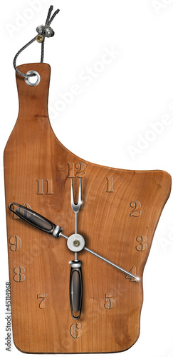 Clock Wooden Cutting Board