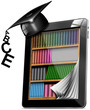 Tablet Bookcase Graduation Hat