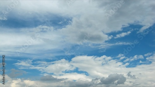 beautiful clouds. time lapse HD