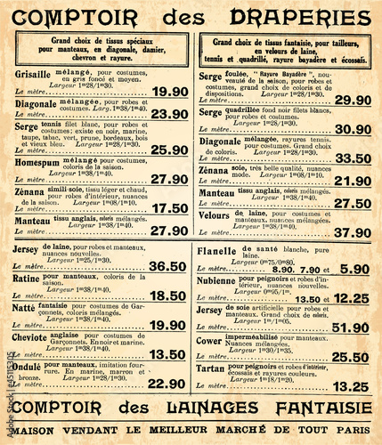 Page de catalogue