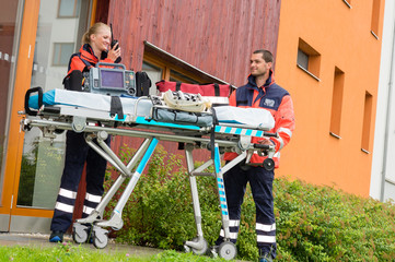 Emergency doctor home visit call radio ambulance