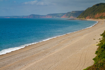 Devon beach at Branscombe