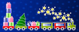 Christmas train - children's illustration