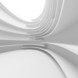 Fototapety White Abstract Architecture Design