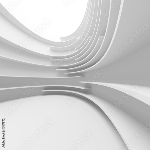 White Abstract Architecture Design