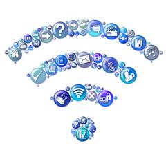 wifi bleu