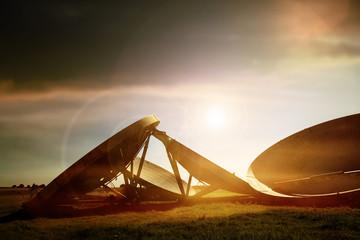 satellite sun flare