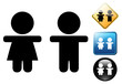 Children pictogram and icons