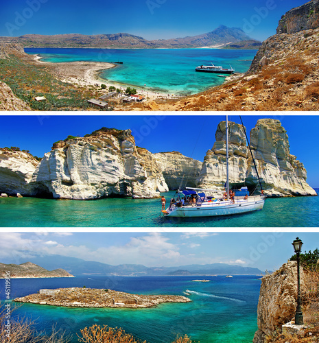 beautiful nature of Greek islands