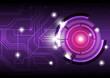 future digital button design background