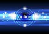 digital online concept background